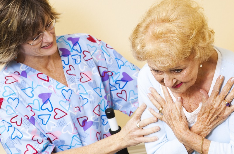 An elderly woman in need of home care in Saginaw, MI